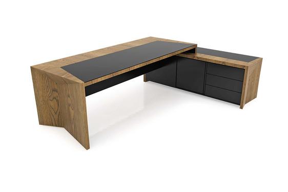 Mesa Principal com Credenza integrado