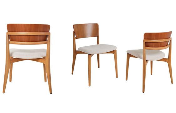 Cadeira Phina encosto madeira