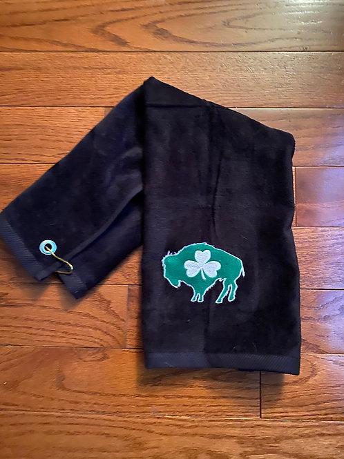Buffalo Shamrock Golf Towel