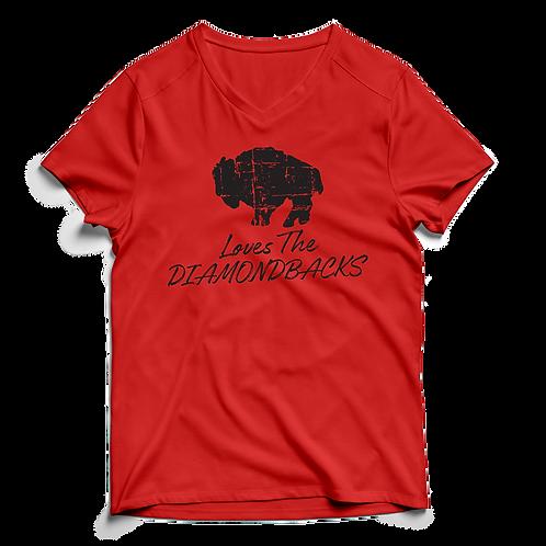Buffalo Loves Diamondbacks - V-Neck