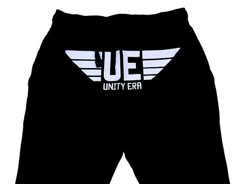 Unisex Black Sweatpants with White Logo