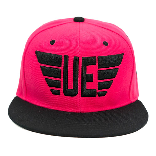 Hot Pink and Black Logo Hat