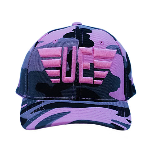 Pink, Gray and Black Fatigue Logo Hat