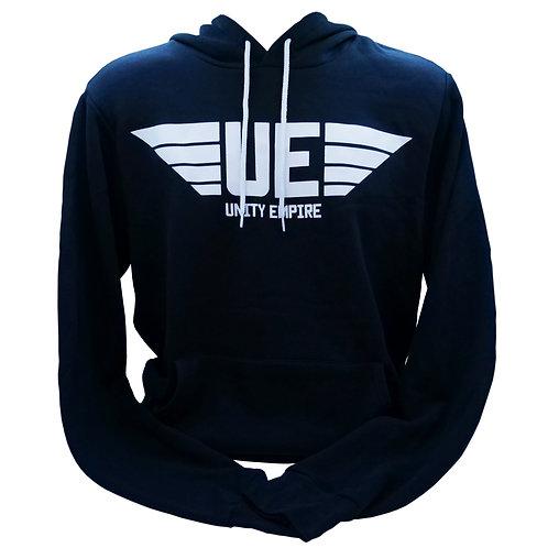 Men's Black Unity Empire Hoodie with White Logo