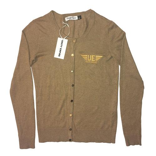 Beige Unity Empire Cardigan Sweater