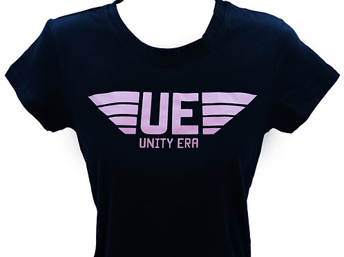 Women's Muscle T-Shirt with Light Pink Logo