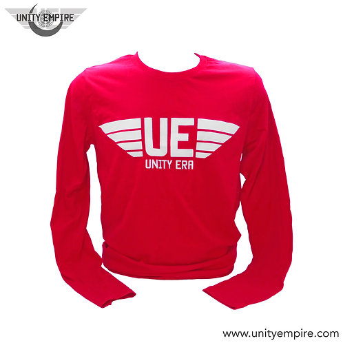 Men's Long Sleeve Red and White UE Shirt