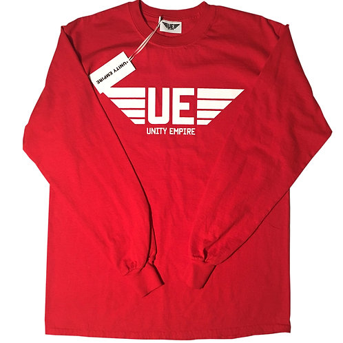 Bright Red Unity Empire Long Sleeve Shirt