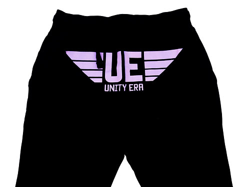 Unisex Sweatpants with Light Pink Logo