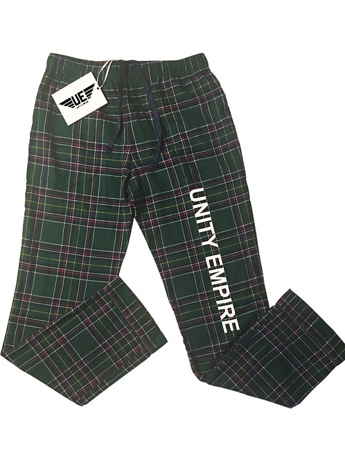 Green Plaid Unity Empire Pajama Bottoms