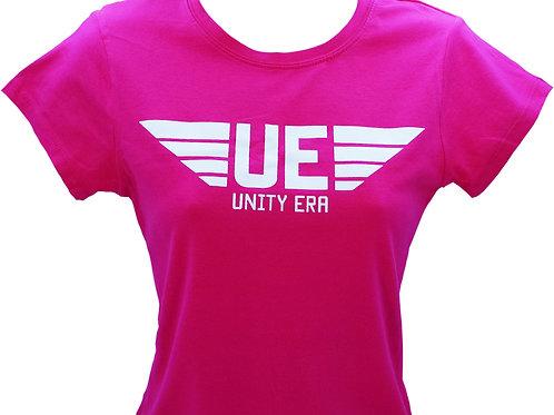 Women's Hot Pink BC T-Shirt White Logo