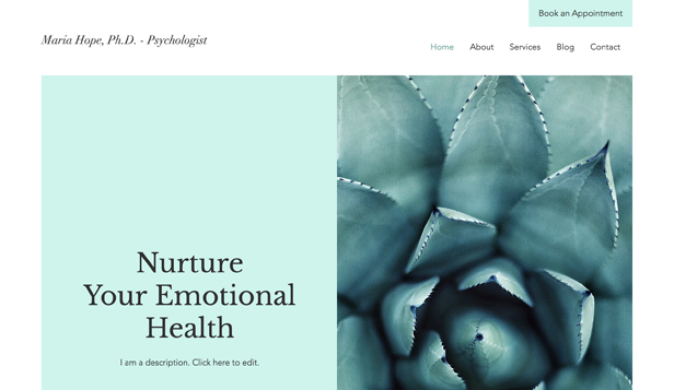 Gezondheid en wellness website templates – Psycholoog