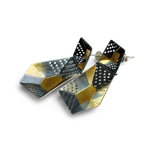 Origami earrings 002