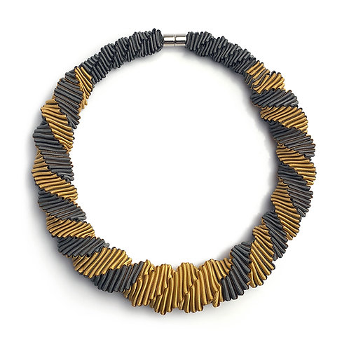 2-Color Yellow+Gray necklace 01