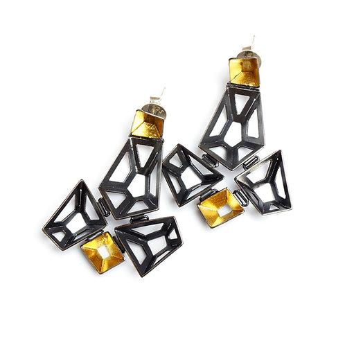 Origami earrings 005