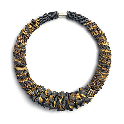 2-Color Yellow+Gray necklace 02