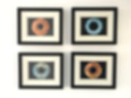 Example of Family of 4 Iris prints framed and on display