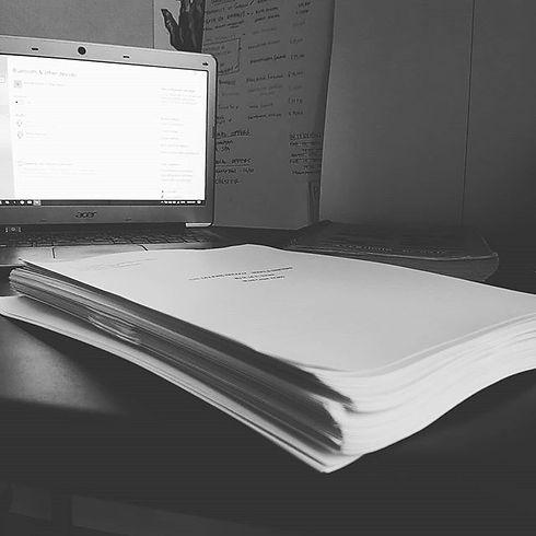 A fresh manuscript ready to be ravaged b