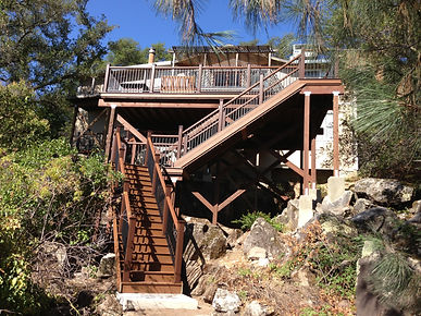 Trex Stairs and Railing. Rocklin, CA