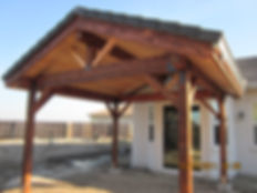 Heavy Wood Patio Roof. Rocklin, CA