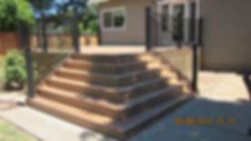 Corner Steps. Roseville, CA