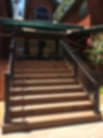Exterior Stairs with ADA Railing and Step Lights