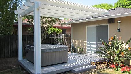Aluminum Patio Roof. Sacramento, CA