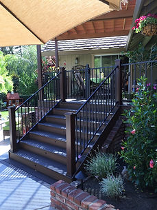 Trex Stairs with Riser Lights. Folsom, CA