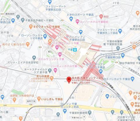 甘太郎 千葉センシティ 地図.JPG