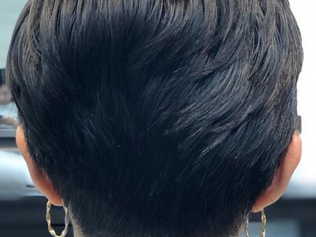 Super Pixie Haircut w/ Fade