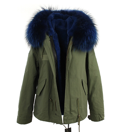 Home | Blondes Boutique | Short Parka Coat Blue