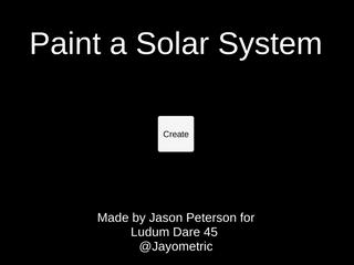 Paint a Solar System
