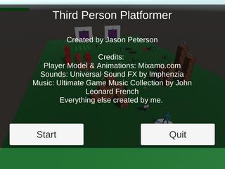 Third Person Platformer