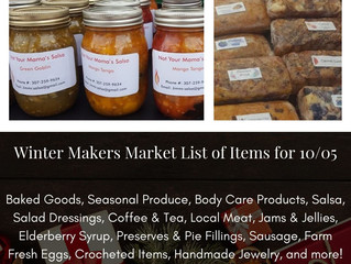 Winter Makers Market 10/5