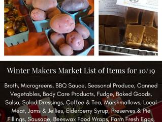 Winter Makers Market 10/19