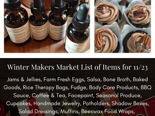 Winter Makers Market 11/23