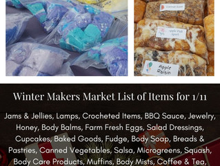 Winter Makers Market 1/11