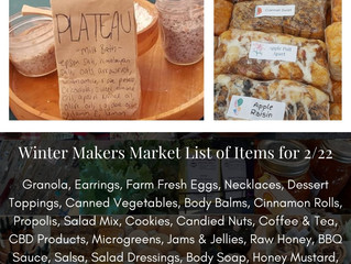 Winter Makers Market 2/22