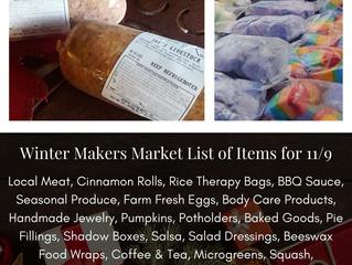 Winter Makers Market 11/9