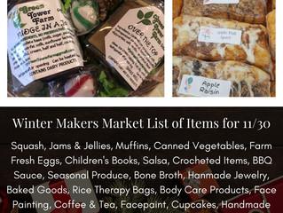 Winter Makers Market 11/30