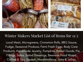 Winter Makers Market 11/2