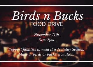 Birds n Bucks Food Drive