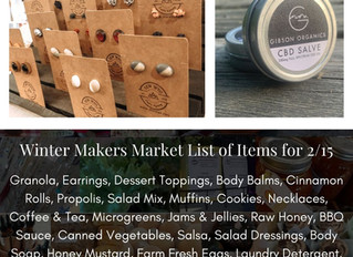 Winter Makers Market 2/15