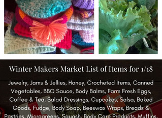 Winter Makers Market 1/18