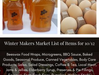 Winter Makers Market 10/12