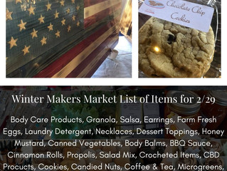 Winter Makers Market 2/29