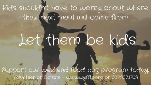 Support our Weekend Food Bag Program