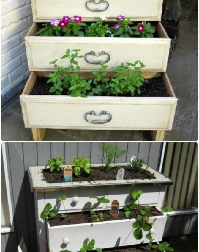 DIY-Dresser-Drawer-Garden-Container-Instruction-DIYHowto-Best-Draw-Gardening-Ideas