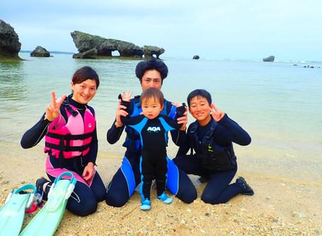 沖縄旅行★家族みんなでシュノーケル