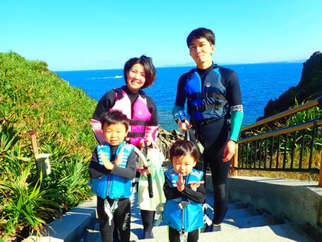 2020年11月・2歳と4歳の子供達と沖縄・青の洞窟シュノーケルツアー